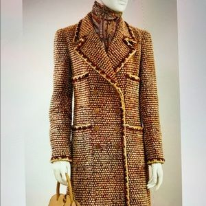 Vintage Chanel timeless double breasted long coat.